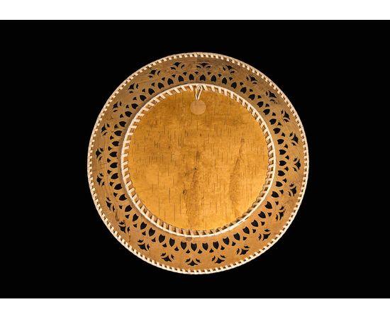 """Тарелка из бересты расписная на стену """"Зима"""", фото , изображение 2"""