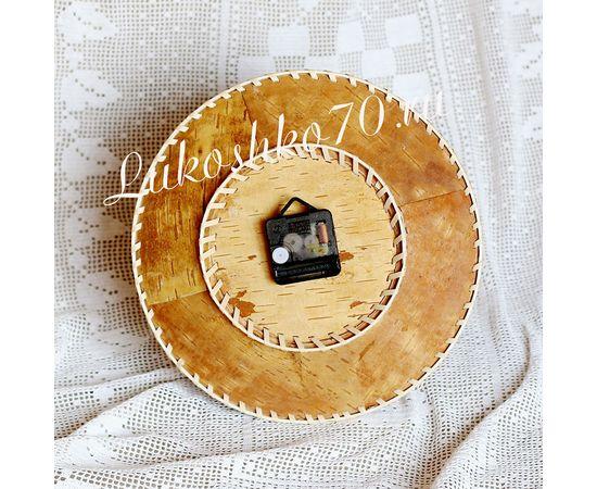 """Часы из бересты настенные большие """"Медведь и Рысь"""", фото , изображение 2"""