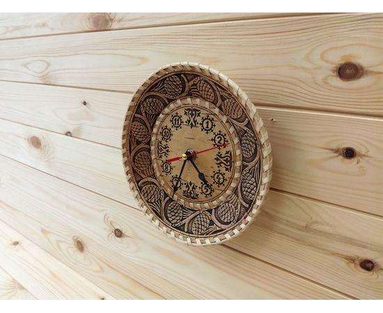 """Часы из бересты малые """"Шишки"""", фото , изображение 2"""