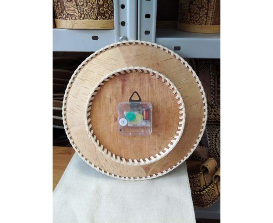 """Часы из бересты настенные средние """"Шишки"""", фото , изображение 2"""