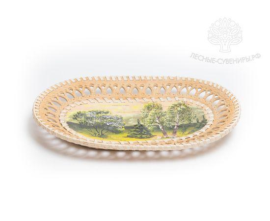 Тарелка на стену расписная «Лето» овальная, фото , изображение 2