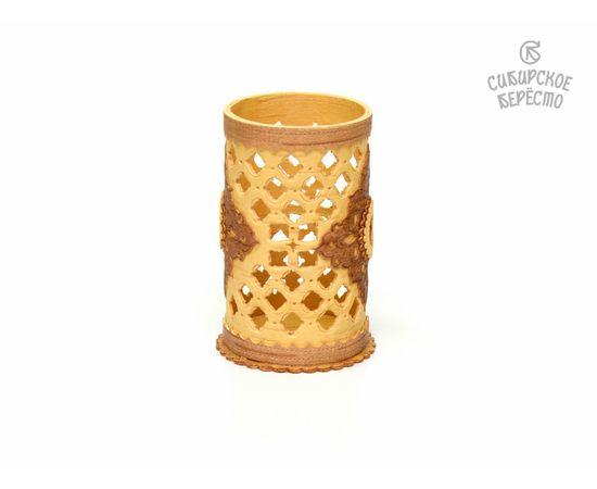 Салфетница - Карандашница из бересты резная, фото , изображение 3