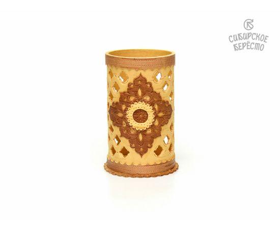 Салфетница - Карандашница из бересты резная, фото , изображение 4