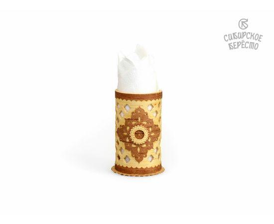 Салфетница - Карандашница из бересты резная, фото , изображение 5