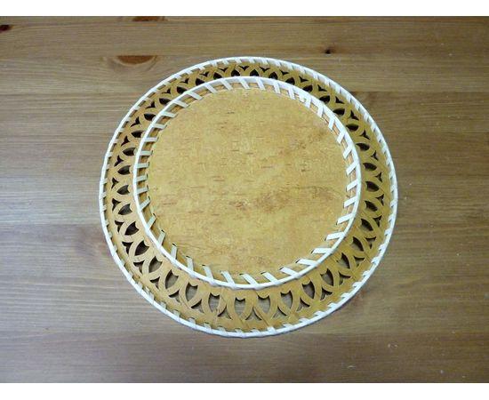 Тарелка из бересты под роспись D26, фото , изображение 3