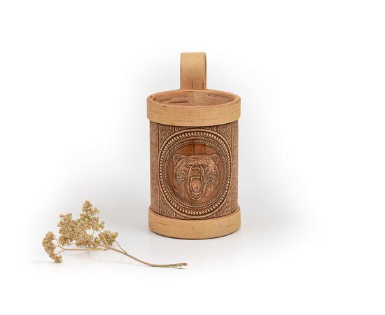 Кружка из бересты пивная «Медведь», фото , изображение 7