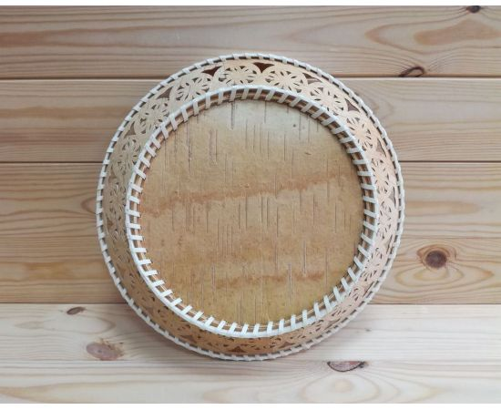 Тарелка из бересты большая «Кружевная», фото , изображение 2