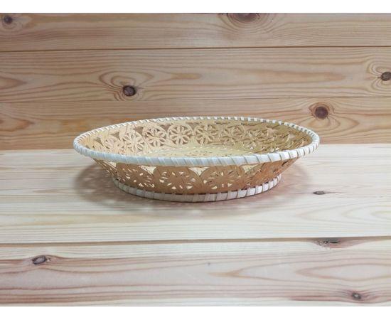 Тарелка из бересты большая «Кружевная», фото , изображение 3