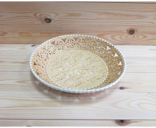 Тарелка из бересты большая «Кружевная», фото , изображение 5