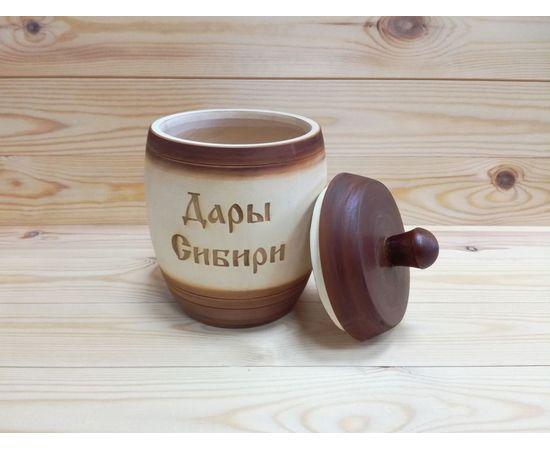 Бочонок деревянный «Дары Сибири» 1,5 кг, фото , изображение 3