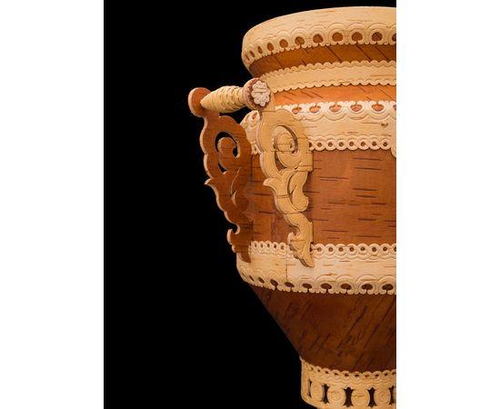 Самовар из бересты сувенирный большой, фото , изображение 5