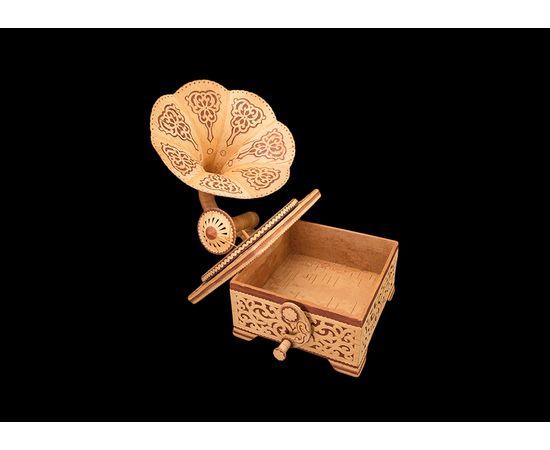 Шкатулка-граммофон из бересты, фото , изображение 3