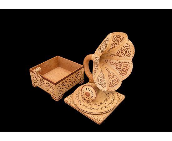 Шкатулка-граммофон из бересты, фото , изображение 4
