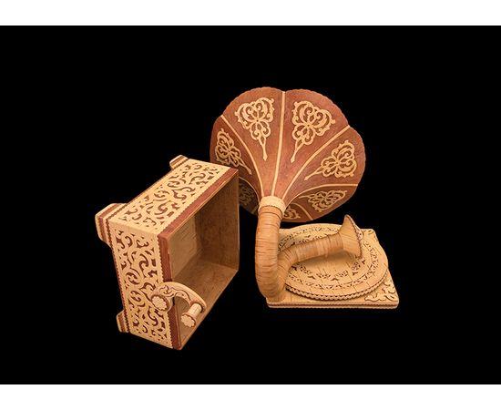 Шкатулка-граммофон из бересты, фото , изображение 5