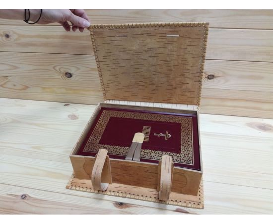 Футляр из бересты для библии + Книга, фото , изображение 4
