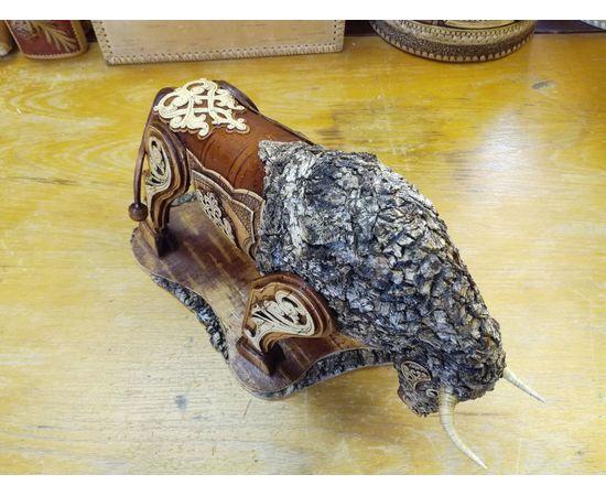 Статуэтка из бересты «Бык». Дорогой подарок ручной работы, фото , изображение 6