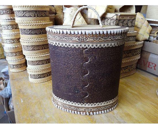 Туес большой овальный «Филин», фото , изображение 3