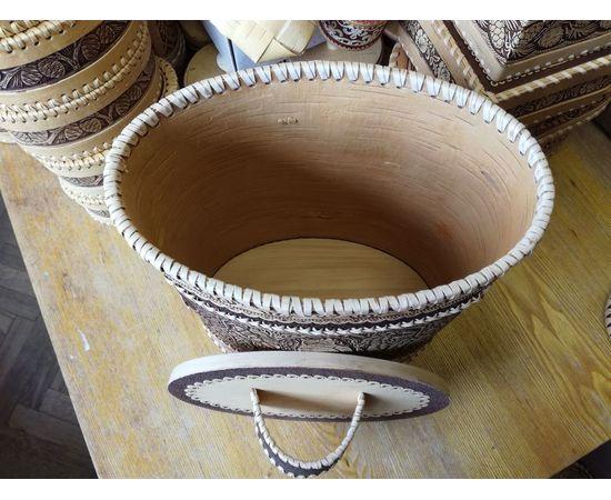 Туес большой овальный «Филин», фото , изображение 4