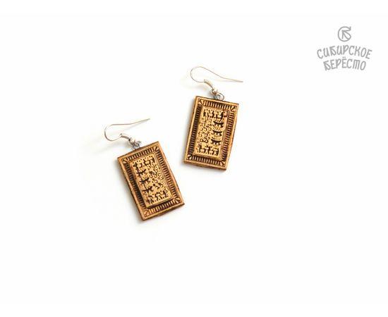 Набор украшений из бересты Подвеска + Серьги, фото , изображение 3
