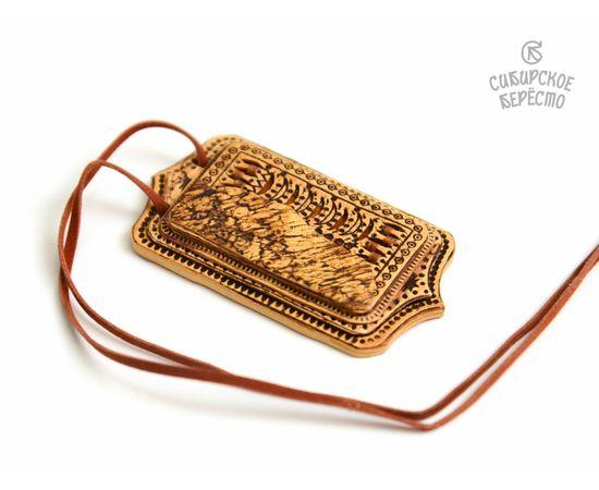 Набор украшений из бересты Подвеска + Серьги, фото , изображение 4