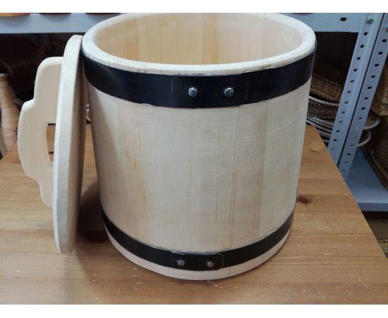 Кадка из кедра для засолки 20 литров, фото , изображение 5