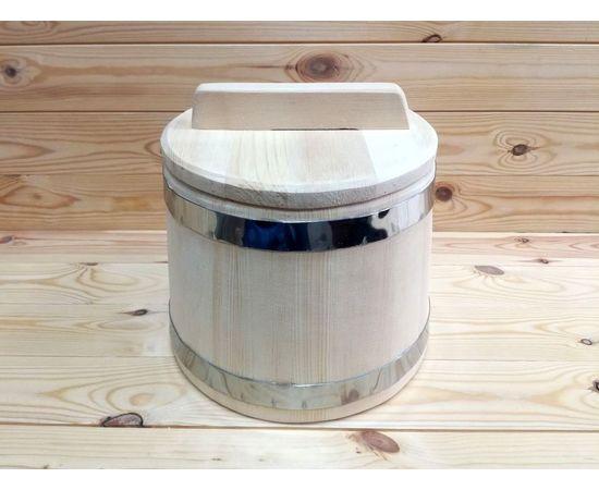 Кадка из кедра нержавейка 5 л, фото , изображение 2