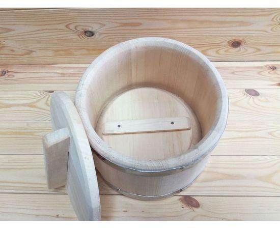 Кадка из кедра нержавейка 5 л, фото , изображение 4