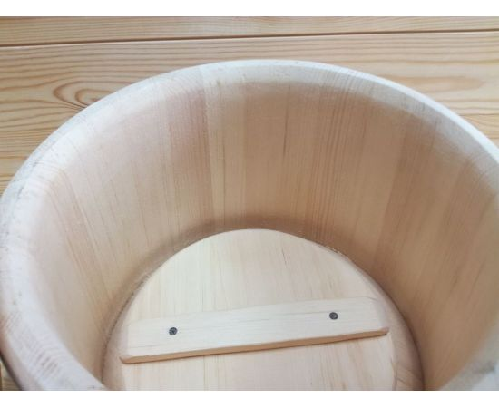 Кадка из кедра нержавейка 5 л, фото , изображение 5