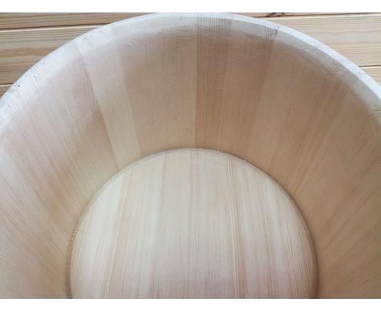 Кадка из кедра 20 л обручи из нержавеющей стали, фото , изображение 5