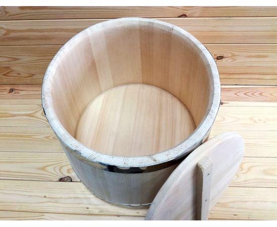 Кадка из кедра 20 л обручи из нержавеющей стали, фото , изображение 6