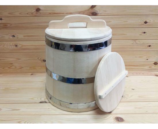 Кадка из кедра 25 л обручи из нержавеющей стали, фото , изображение 4