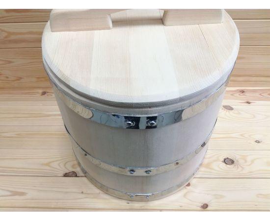 Кадка из кедра 30 л обручи из нержавеющей стали, фото , изображение 2