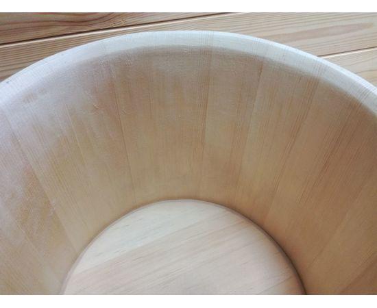 Кадка из кедра 30 л обручи из нержавеющей стали, фото , изображение 3