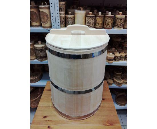 Бочка деревянная из кедра 75 литров. Бочка для воды, фото , изображение 2