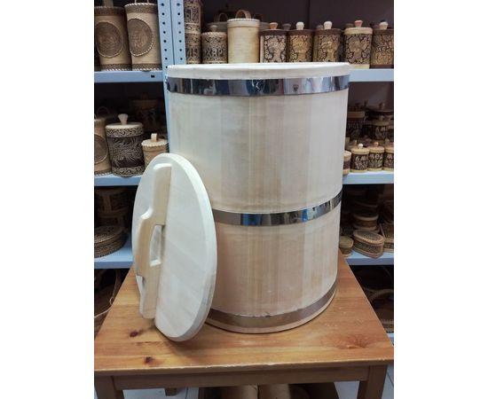 Бочка деревянная из кедра 75 литров. Бочка для воды, фото , изображение 7