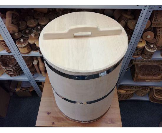 Бочка деревянная для воды 100 литров. Бочка для бани, фото , изображение 2