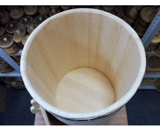 Бочка деревянная для воды 100 литров. Бочка для бани, фото , изображение 5