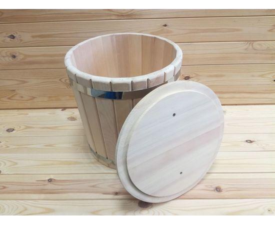 Кадка кедровая с гнетом и крышкой 10 л, фото , изображение 6