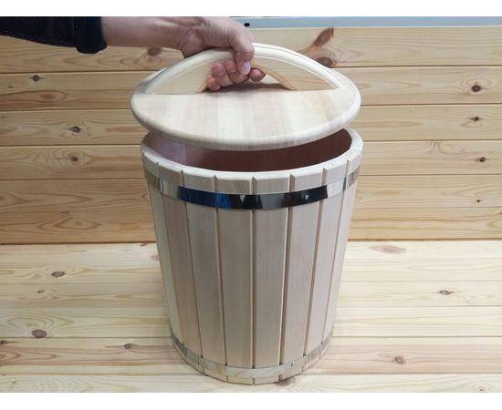 Кадка кедровая с гнетом и крышкой 10 л, фото , изображение 7