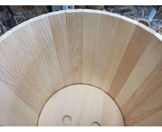 Кадка из кедра с гнетом и крышкой 30 л, фото , изображение 5