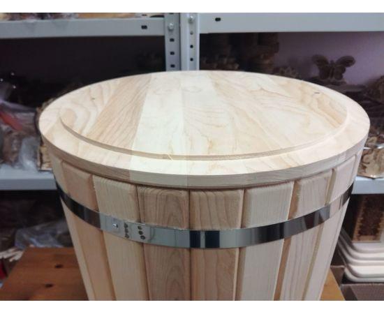 Кадка из кедра с гнетом и крышкой 30 л, фото , изображение 8