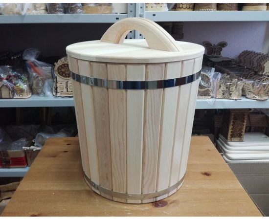 Кадушка деревянная для засолки 40 л, фото , изображение 3