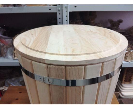Кадка из кедра с гнетом и крышкой 50 л, фото , изображение 5