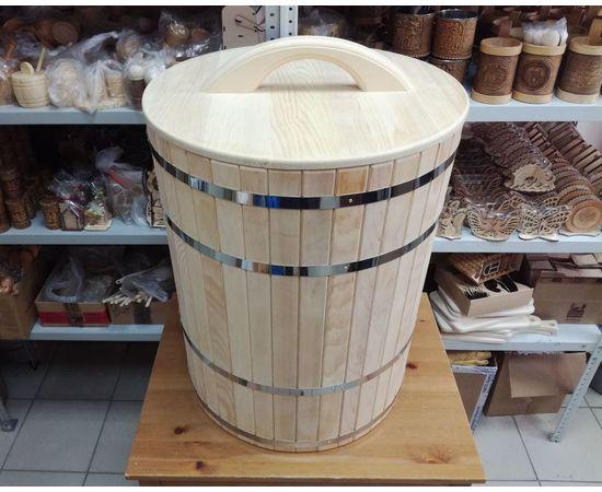Кадка деревянная для засолки, для бани 100 л, фото , изображение 2