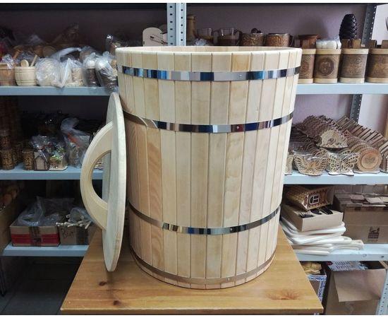 Кадка деревянная для засолки, для бани 100 л, фото , изображение 5