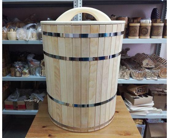 Кадка деревянная для засолки, для бани 100 л, фото , изображение 7