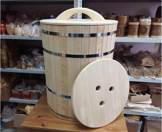 Кадка деревянная для засолки, для бани 100 л, фото , изображение 9