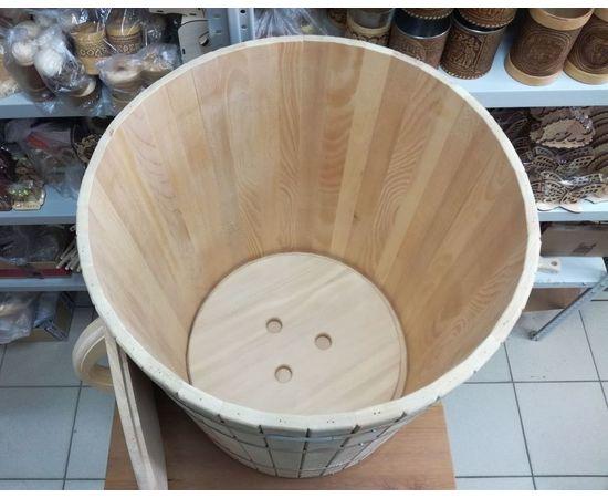 Кадка из кедра с гнетом и крышкой 150 л, фото , изображение 2
