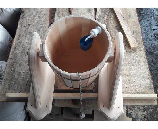 Обливное устройство из кедра для бани/сауны «Ливень» 10 л. Обливное ведро, фото , изображение 2