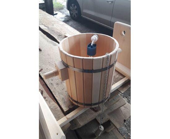 Обливное устройство из кедра для бани/сауны «Ливень» 10 л. Обливное ведро, фото , изображение 3